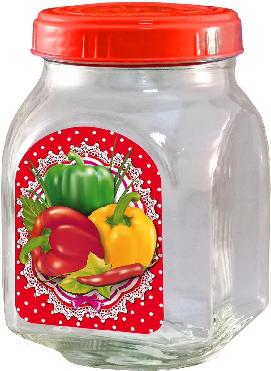 Банка для хранения Квестор, c крышкой, 800 мл. 626-026VT-1520(SR)Банка из бесцветного стекла для консервированной пищевой продукции. В том числе для сыпучих пищевых продуктов.