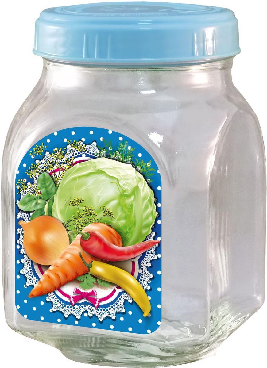 Банка для хранения Квестор, c крышкой, 800 мл. 626-027VT-1520(SR)Банка из бесцветного стекла для консервированной пищевой продукции. В том числе для сыпучих пищевых продуктов.