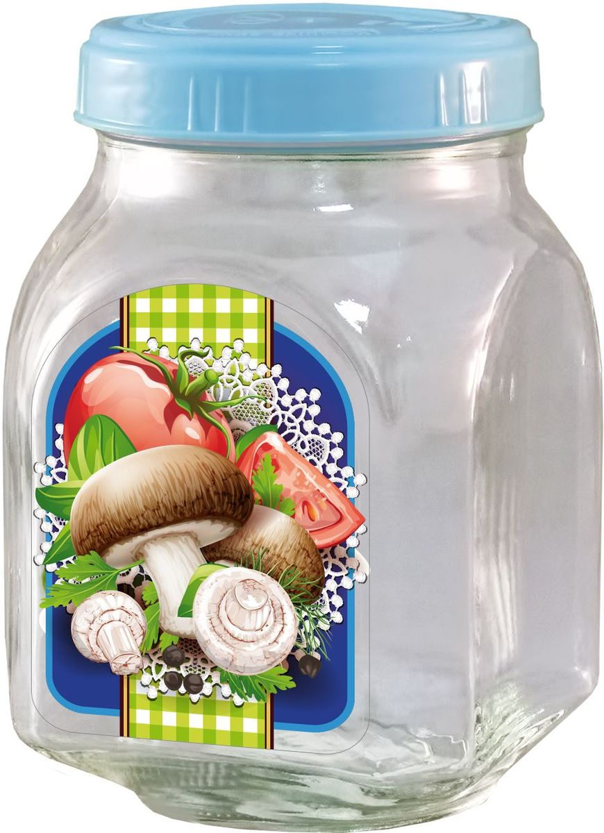 Банка для хранения Квестор, c крышкой, 800 мл. 626-031VT-1520(SR)Банка из бесцветного стекла для консервированной пищевой продукции. В том числе для сыпучих пищевых продуктов.