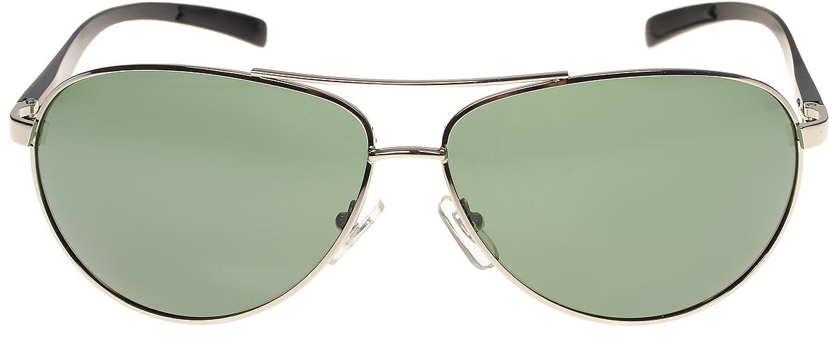 Очки солнцезащитные мужские Vittorio Richi, цвет: серебристый, зеленый. ОС80051-1/17fBM8434-58AEОчки солнцезащитные Vittorio Richi это знаменитое итальянское качество и традиционно изысканный дизайн.