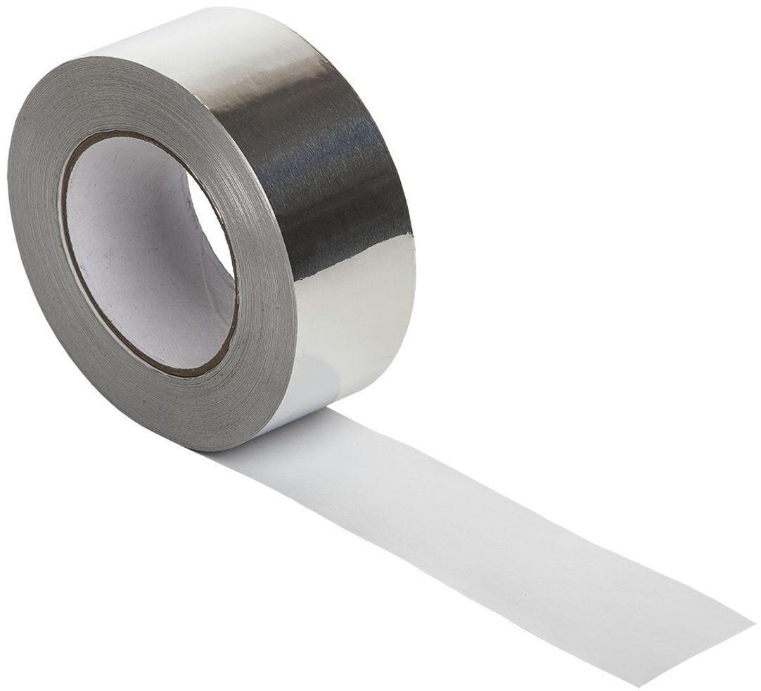 Клейкая лента MasterProf, алюминевая, цвет: серый металлик, 48 мм х 10 мCA-3505Алюминиевая клейкая лента представляет собой основу из алюминиевой фольги, на которую нанесен акриловый клеевой слой.Материал предназначен для герметизации стыков и технологических швов при монтаже воздуховодов, инженерных коммуникаций, отражающей изоляции, при строительстве кровельных и подкровельных конструкций, а также при выполнении ремонтных и восстановительных работ.