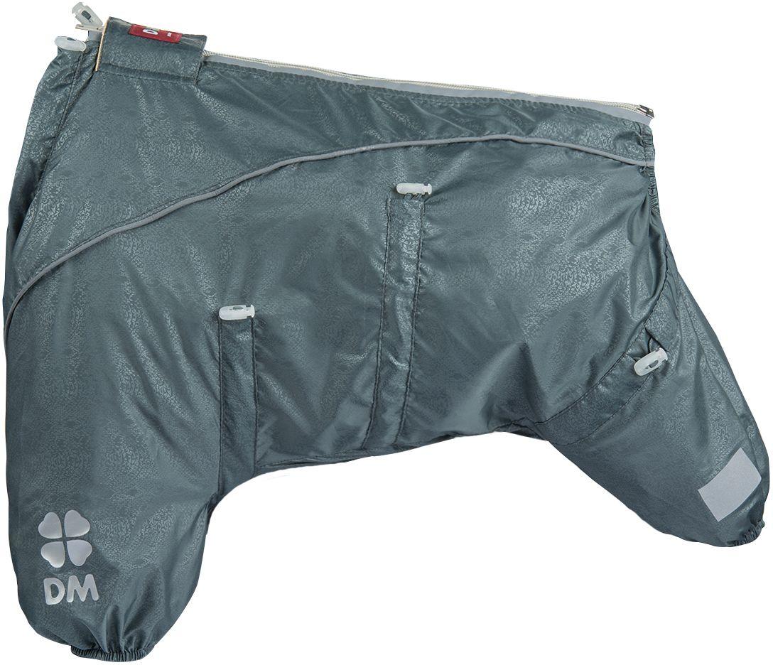 Комбинезон для собак Dogmoda Doggs Лайт, для мальчика, №28. DM-160329DM-160329Dogmoda представляет новинку в коллекции Doggs- Лайт. Комбинезон изготовлен из водоотталкивающей и ветрозащитной ткани, без подкладки, его можно одевать как и в дождливую так и в сухую погоду, защищая питомца от грязи и пыли. Главная особенность моделей Doggs – четыре затяжки-фиксатора, позволяющие одежде идеально садиться по фигуре, даже если она не является стандартной. Размер комбинезона Doggs соответствует длине спины от холки до хвоста. спина 28 шея 56 грудь 68. Породы: мопс, французский бульдог, керн-терьер, вестхайленд-уайт-терьер, бишон фризе, кавалер кинг чарльз спаниель, пудель карликовый, немецкий ягдтерьер, джек-рассел-терьер, бостон-терьер. Ваша собака все еще не любит одеваться? Познакомьте ее с Doggs!-Облегчающий процесс надевания и носки;-ничто не сковывает и не ограничивает свободу движений питомца;-одежда плотнее прилегает к телу и идеально садиться по фигуре;-полностью закрывается доступ сквознякам, холодному воздуху и влаге.