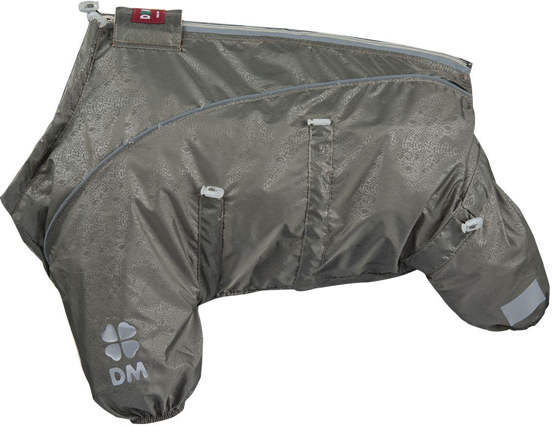 Комбинезон для собак Dogmoda Doggs Лайт, для девочки, №28. DM-160330DM-160330Dogmoda представляет новинку в коллекции Doggs- Лайт. Комбинезон изготовлен из водоотталкивающей и ветрозащитной ткани, без подкладки, его можно одевать как и в дождливую так и в сухую погоду, защищая питомца от грязи и пыли. Главная особенность моделей Doggs – четыре затяжки-фиксатора, позволяющие одежде идеально садиться по фигуре, даже если она не является стандартной. Размер комбинезона Doggs соответствует длине спины от холки до хвоста. спина 28 шея 56 грудь 68. Породы: мопс, французский бульдог, керн-терьер, вестхайленд-уайт-терьер, бишон фризе, кавалер кинг чарльз спаниель, пудель карликовый, немецкий ягдтерьер, джек-рассел-терьер, бостон-терьер. Ваша собака все еще не любит одеваться? Познакомьте ее с Doggs!-Облегчающий процесс надевания и носки;-ничто не сковывает и не ограничивает свободу движений питомца;-одежда плотнее прилегает к телу и идеально садиться по фигуре;-полностью закрывается доступ сквознякам, холодному воздуху и влаге.
