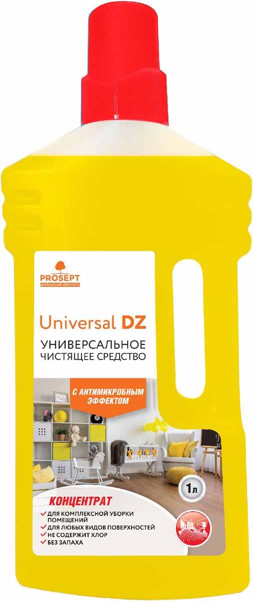 Средство моющее Prosept Universal DZ, универсальное, с дезинфицирующим эффектом, концентрат, 1 л68/5/1Нейтральное моющее низкопенное средство на основе ЧАС с антимикробным эффектом для мытья полов, стен, лестниц, дверей, корпусной мебели. Удаляет основные виды загрязнений со всех типов твердых поверхностей. Обладает широким антимикробным действием - уничтожает микроорганизмы (бактерии, грибки).