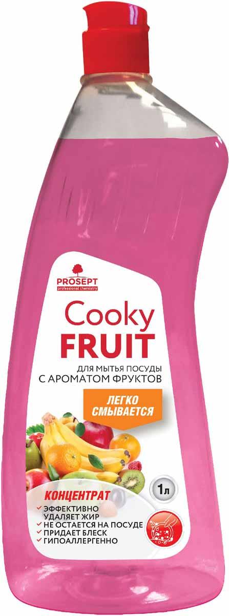 Гель для мытья посуды Prosept Cooky Fruits, концентрат, с ароматом фруктов, 1 лCLP446Густое гелеобразное средство для мытья посуды, столовых приборов, кухонного и кондитерского инвентаря, посуды для приготовления пищи.
