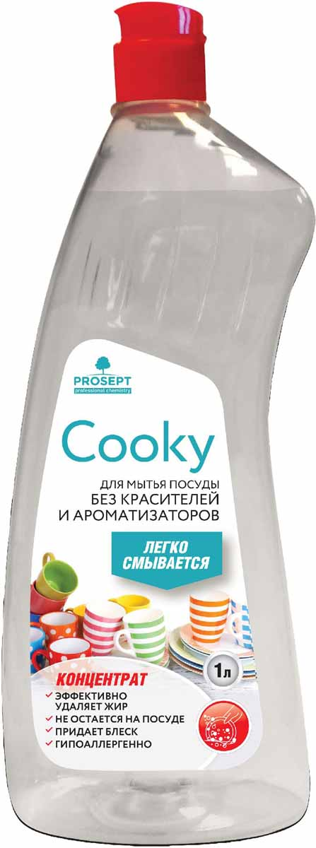 Гель для мытья посуды Prosept Cooky, концентрат, без запаха, 1 л790009Нейтральное густое гелеобразное средство для мытья посуды вручную. Характеризуется умеренным пенообразованием, высоким обезжиривающим действием в горячей и холодной воде. Удаляет следы пищи, жиры животного и растительного происхождения со всех видов поверхностей. Придает блеск стеклянной посуде.Товар сертифицирован.