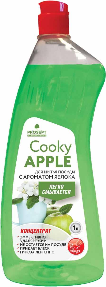 Гель для мытья посуды Prosept Cooky Apple, концентрат, с ароматом яблока, 1 л134-1Густое гелеобразное средство для мытья посуды, столовых приборов, кухонного и кондитерского инвентаря, посуды для приготовления пищи.Товар сертифицирован.