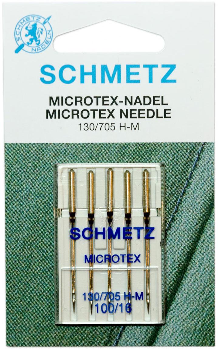 Игла для бытовых швейных машин Schmetz, №100, 5 штComfort 05-15Иглы для бытовых швейных машин всех марок