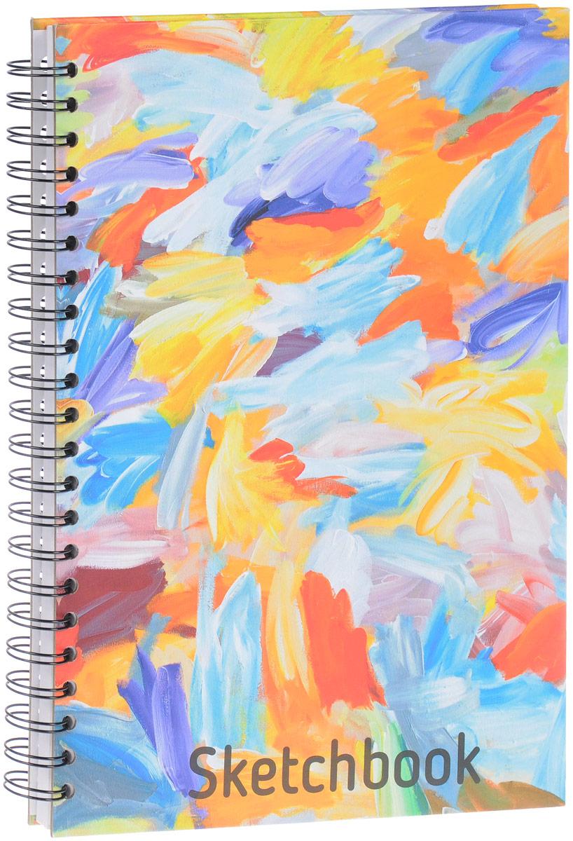 Попурри Скетчбук Краски 80 листов72523WDУдобный скетчбук Краски на металлическом гребне с блоком из плотной белой бумаги предназначен для рисования. Скетчбук имеет обложку из твердого картона. Обложка оформлена небрежными мазками цветных красок. Такой скетчбук - настоящая находка для художника, иллюстратора или архитектора.