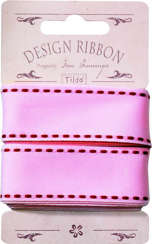 Лента Tilda, цвет: розовый, 25 х 3 см. 21048053997775318Ленточки Tilda идеально подойдут для декора ваших творческих работ.