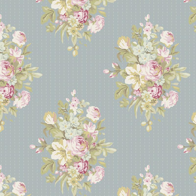 """Ткань """"Tilda"""", цвет: серый, зеленый, розовый, 50 х 55 см. 210480787"""