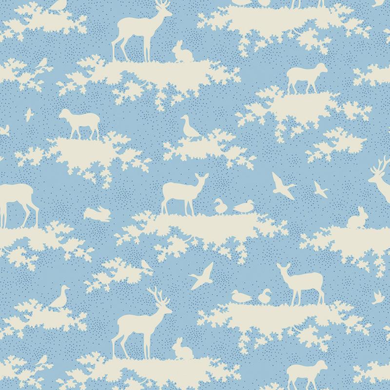 Ткань Tilda Forest, цвет: голубой, белый,50 х 55 см. 210481030210480956Ткань Tilda Forest, выполненная из натурального хлопка, используется для творческих работ. Хлопковые ткани не выцветают, не линяют, не деформируются при стирке и в процессе носки готовых изделий, сшитых из этих тканей.Ткань Tilda Forest можно без опасений использовать в производстве одежды для самых маленьких детей, в производстве игрушек. Также ткань подойдет для декора и оформления творческих работ в различных техниках. Ширина: 55 см. Длина: 50 см.