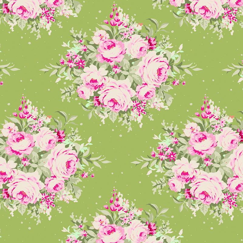 Ткань Tilda Floribunda, цвет: зеленый, розовый, 50 х 55 см. 210481061C0042415Ткань Tilda Floribunda, выполненная из натурального хлопка, используется для творческих работ. Хлопковые ткани не выцветают, не линяют, не деформируются при стирке и в процессе носки готовых изделий, сшитых из этих тканей.Ткань Tilda Floribunda можно без опасений использовать в производстве одежды для самых маленьких детей, в производстве игрушек. Также ткань подойдет для декора и оформления творческих работ в различных техниках. Ширина: 55 см. Длина: 50 см.