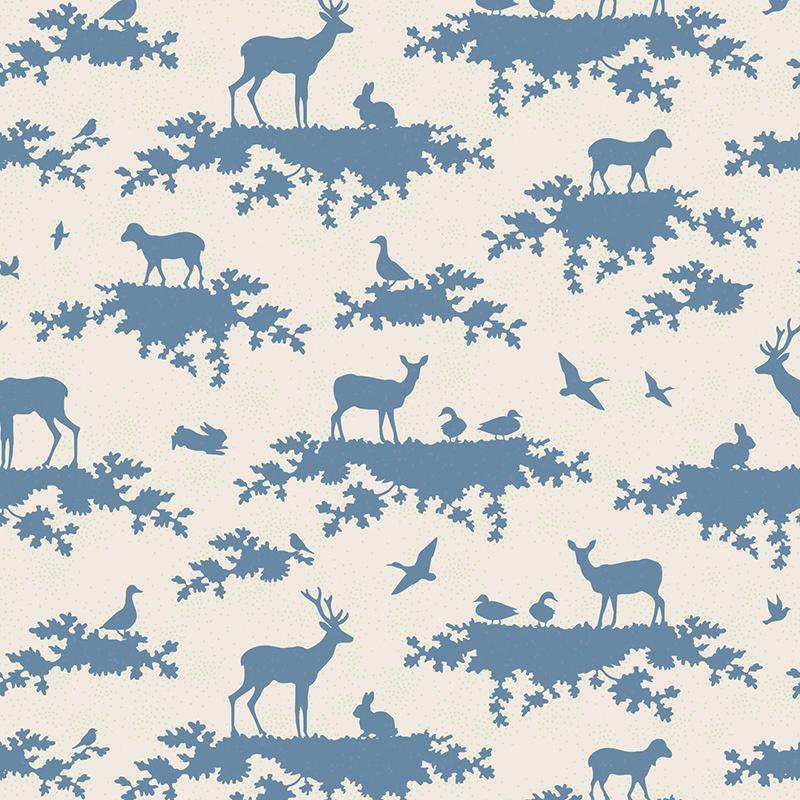 Ткань Tilda Forest, цвет: белый, синий, 50 х 55 см. 210481064C0038550Ткань Tilda Forest, выполненная из натурального хлопка, используется для творческих работ. Хлопковые ткани не выцветают, не линяют, не деформируются при стирке и в процессе носки готовых изделий, сшитых из этих тканей.Ткань Tilda Forest можно без опасений использовать в производстве одежды для самых маленьких детей, в производстве игрушек. Также ткань подойдет для декора и оформления творческих работ в различных техниках. Ширина: 55 см. Длина: 50 см.