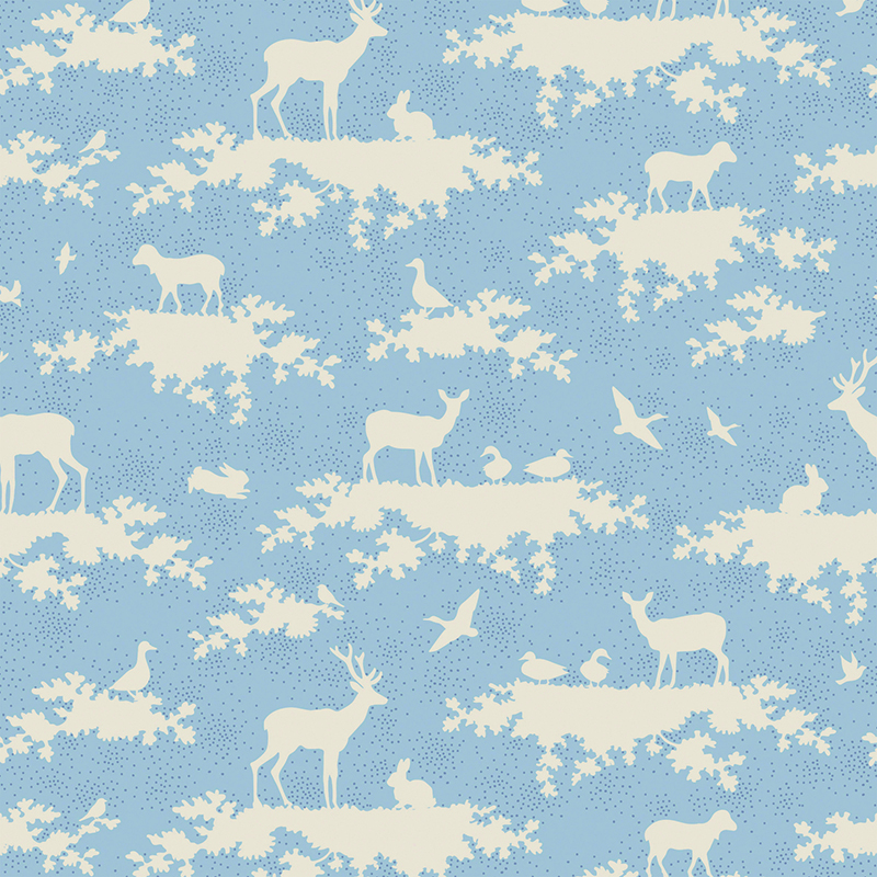 Ткань Tilda Forest, цвет: голубой, белый, 1 х 1,1 м. 210484010210480597Ткань Tilda Forest выполненная из натурального хлопка, используется для творческих работ. Хлопковые ткани не выцветают, не линяют, не деформируются при стирке и в процессе носки готовых изделий, сшитых из этих тканей.Ткань Tilda Forest можно без опасений использовать в производстве одежды для самых маленьких детей, в производстве игрушек. Также ткань подойдет для декора и оформления творческих работ в различных техниках. Ширина: 110 см. Длина: 100 см.