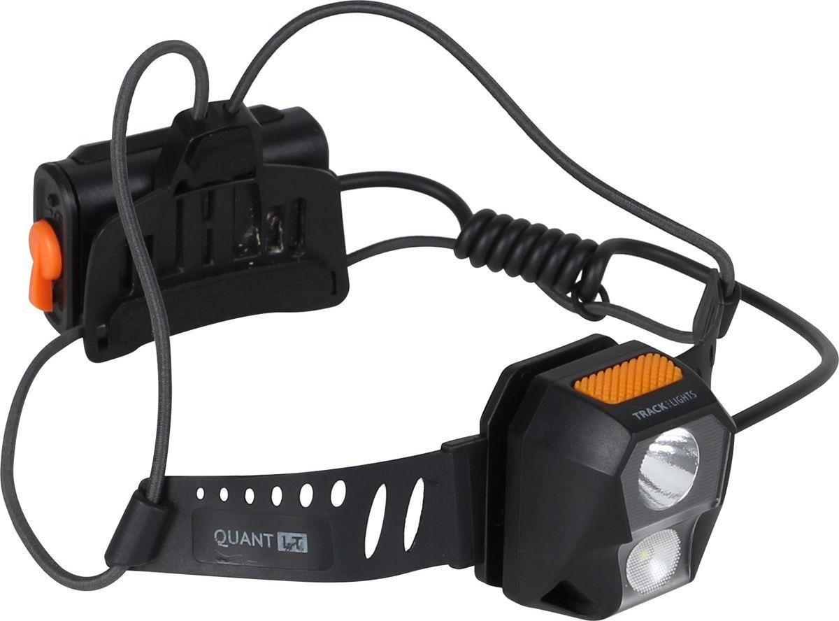 Фонарь налобный Track Quant LT, 8 режимовKOC-H19-LEDСверхъяркий светодиод Track Quant LT имеет следущие характеристики: Тип элемента питания: батарея типа AAA (3 шт.) (в комплект не входят)Быстрое и удобное переключение между различными режимами работы фонаря с помощью кнопки: продолжительное нажатие (более 1,5 с.) - смена режима свечения; короткое нажатие - смена режима работы. Тип элемента питания: батарея типа AAA (3 шт.) в комплект не входятВес без батарей: 59 гр. Влагозащитный корпус IPX-6 .Лунный свет, сверкающие над головой звезды – все это прекрасно и романтично, но слишком зыбко и ненадежно.Универсальный налобный фонарик Track Quant LT не только поможет выйти из сложных ситуаций, но и существенно уменьшит вероятность их возникновения. В конструкции используется сверхъяркий светодиод CREE XPG2 R4, обеспечивающий световой поток в 220 люмен.Прочный светодиодный фонарь с ярким направленным лучом длиной до 150 м. имеет восемь режимов работы: Дальний свет100 % - 210 люмен до 5 ч. дальность света 150 м.30 % - 77 люмен до 16 ч. дальность света 75 м.5 % - 6 люмен до 130 ч. дальность света 5 м.SOSБлижний свет 100 % - 220 люмен до 5 ч. дальность света 20 м.30 % - 70 люмен до 16 ч .дальность света 11 м.5 % - 6 люмен до 130 ч. дальность света 5 м.Режим стробоскоп. Ближний и дальний свет разделены, режимы свечения переключаются путем длинного (1,5 с) нажатия кнопки, режимы работы – быстрым нажатием.Обратите внимание, что при использовании экономичного режима время работы фонаря составляет 130 ч. Степень влагозащиты корпуса IPX-6, что говорит о том, что корпус защищает содержимое от водяных потоков или сильных струй с любого направления. Так что фонарь вполне подойдет туристам, спортсменам, спелеологам, водникам и любителям каньонинга. IP [Ingress Protection] - это международные стандарты защиты электрического и электротехнического оборудования от вредного воздействия окружающей среды.Двойной эластичный шнур обеспечивает хорошую вентиляцию и уменьшает вес всей конструкции