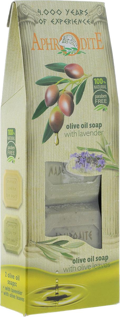 Aphrodite Мыло оливковое в наборе (лаванда & розмарин), 220 гперфорационные unisexПодарок для друзей, близких и для себя.