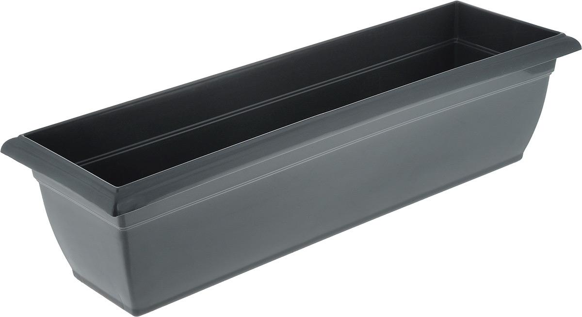 Ящик балконный Santino, цвет: антрацит, 58,5 х 18 х 15 см531-106Балконный ящик Santino изготовлен из высококачественного цветного полипропилена. Изделие предназначено для выращивания цветов и рассады как на балконе, так и в комнатных условиях.Размер ящика: 58,5 х 18 х 15 см.