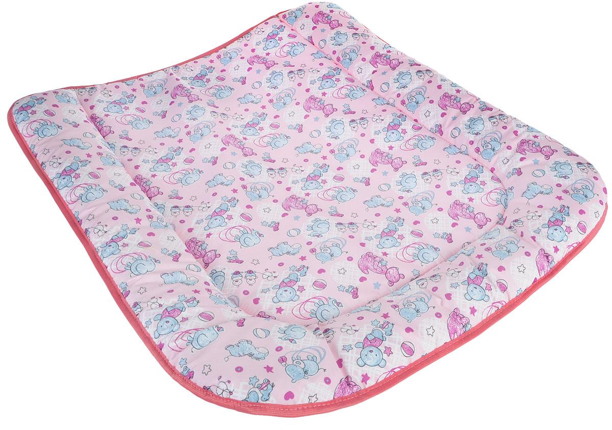 Фея Доска пеленальная на комод Животные цвет розовый -  Позиционеры, матрасы для пеленания