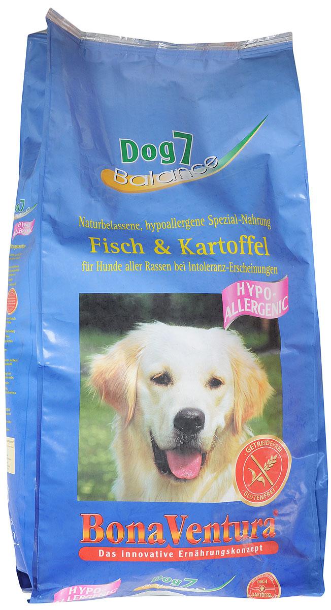 Корм сухой BonaVentura Dog 7 Hipo Allergenic, для собак, гипоаллергенный, с рыбой и картофелем, 12,5 кг0120710Натуральный гиппоалергенный корм для собак BonaVentura Dog 7 Hipo Allergenic произведен из продуктов, пригодных в пищу человека по специальной технологии, схожей с технологией Sous Vide. Благодаря технологии при изготовлении сохраняются все натуральные витамины и минералы. Это достигается благодаря бережной обработке всех ингредиентов при температуре менее 80 градусов. Такая бережная обработка продуктов не стерилизует продуктовые компоненты. Благодаря этому корма не нуждаются ни в каких дополнительных вкусовых добавках и сохраняют все необходимые полезные вещества.При производстве кормов используются исключительно свежие натуральные продукты: мясо, овощи и зерновые; Приготовлено из 100% свежего мяса, пригодного в пищу человеку; Содержит натуральные витамины, аминокислоты, минеральные вещества и микроэлементы; С экстрактом масла зародышей зерна пшеницы холодного отжима (Bio-Dura); Без химических красителей, усилителей вкуса, искусственных консервантов и химических добавок; Без ГМО; Без мясокостной муки; Без сои.Товар сертифицирован.