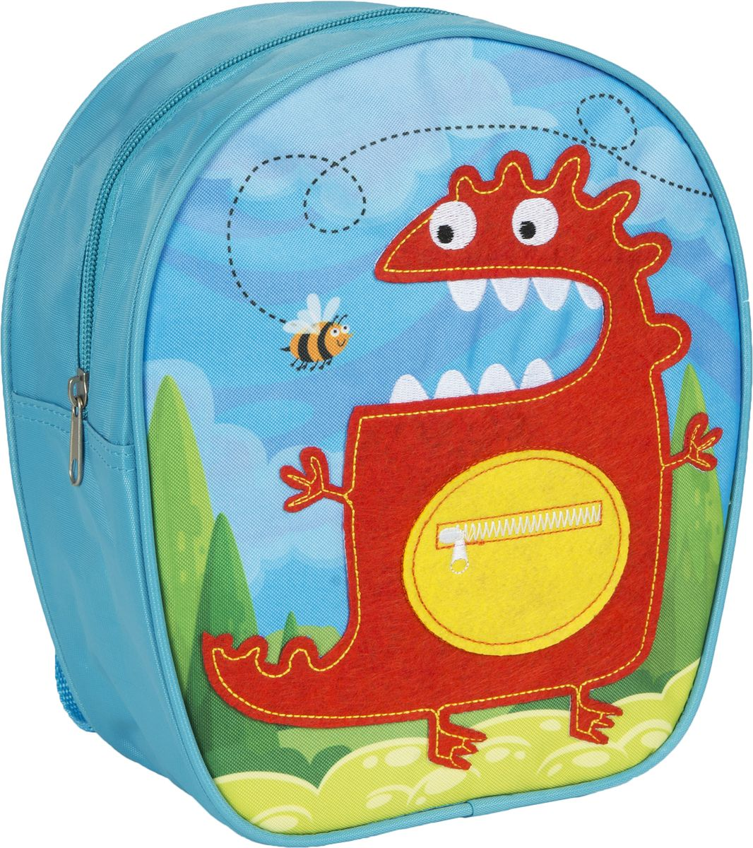 Росмэн Рюкзак дошкольный Монстр72523WDДошкольный рюкзак Росмэн Монстр - это удобный, легкий и компактный аксессуар для вашего малыша, который обязательно пригодится для прогулок и детского сада.В его внутреннее отделение на застежке-молнии можно положить игрушки, предметы для творчества или книжку формата А5.Благодаря регулируемым лямкам, рюкзачок подходит детям любого роста. Удобная ручка помогает носить аксессуар в руке или размещать на вешалке.Износостойкий материал с водонепроницаемой основой и подкладка обеспечивают изделию длительный срок службы и помогают содержать вещи сухими в сырую погоду.Аксессуар декорирован ярким принтом (сублимированной печатью), устойчивым к истиранию и выгоранию на солнце, аппликацией из фетра и вышивкой.