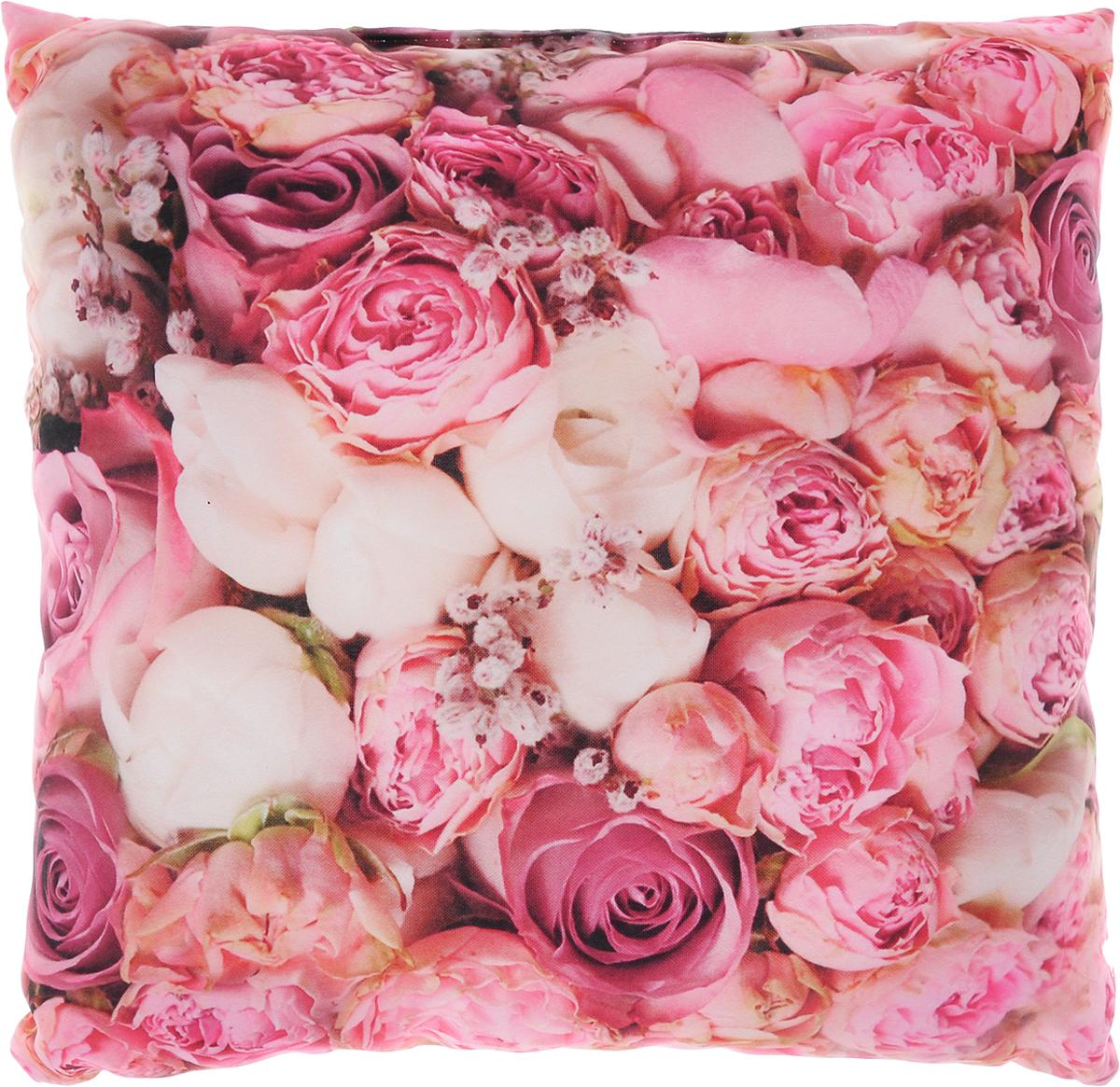 Подушка декоративная Сирень Очарование, 40 х 40 см8812Декоративная подушка Сирень Очарование, изготовленная из габардина (100% полиэстер), прекрасно дополнит интерьер спальни или гостиной. Подушка оформлена красочным изображением цветов. Внутри - мягкий наполнитель из холлофайбера (100% полиэстер). Красивая подушка создаст атмосферу тепла и уюта в спальне и станет прекрасным элементом декора.