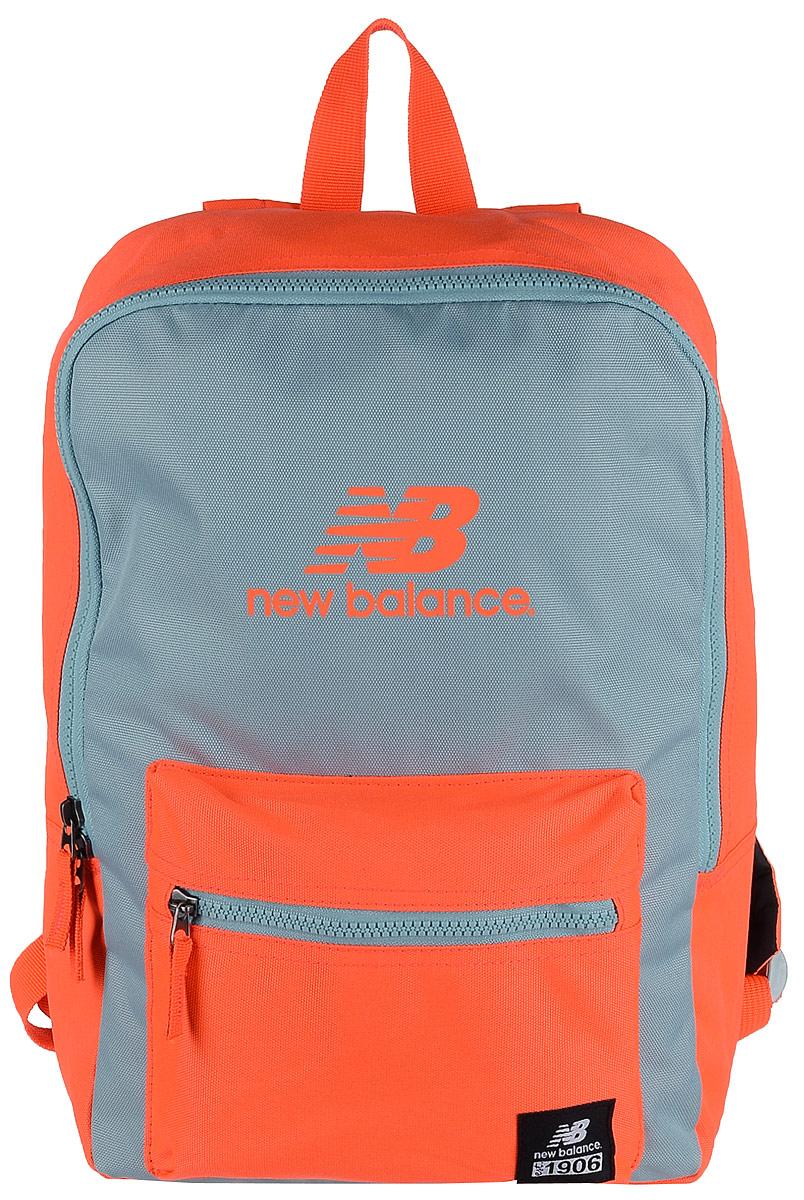 Рюкзак New Balance Booker JR Backpack, цвет: неоновый оранжевый, светло-серый. 500046/AOS76245Стильный городской рюкзак New Balance Booker JR Backpack выполнен из полиэстера и оформлен фирменной символикой.Изделие имеет одно отделение, которое застегивается на застежку-молнию. Снаружи, на передней стенке расположен накладной объемный карман на застежке-молнии.Рюкзак оснащен широкими регулируемыми лямками и ручкой для переноски в руке. Уплотненная спинка обеспечивает комфорт при переноске рюкзака.