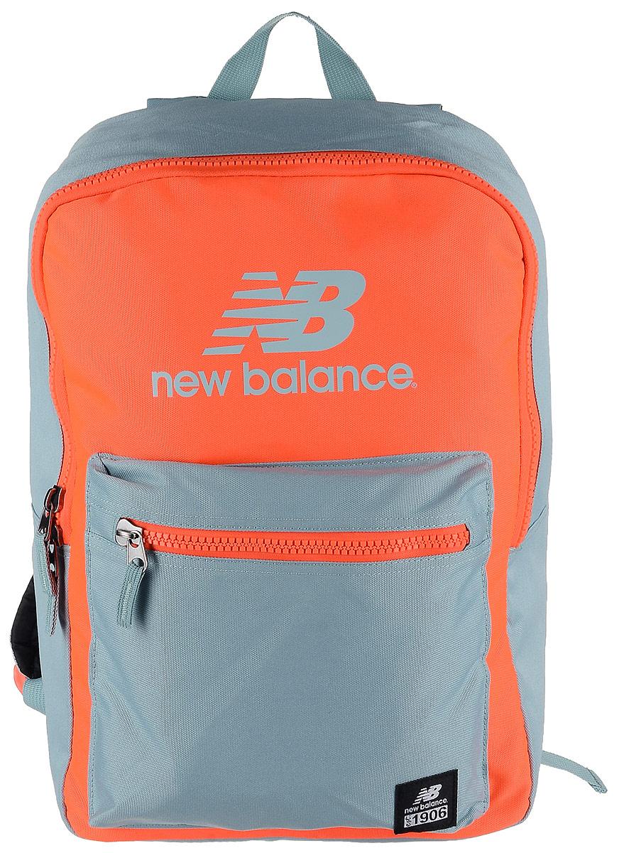 Рюкзак New Balance Booker Backpack, цвет: неоновый оранжевый, светло-серый. 500045/AO71069с-2Стильный городской рюкзак New Balance Booker Backpack выполнен из полиэстера и оформлен фирменной символикой.Изделие имеет одно отделение, которое застегивается на застежку-молнию. Внутри находится накладной карман для ноутбука или планшета. Снаружи, на передней стенке расположен накладной объемный карман на застежке-молнии.Рюкзак оснащен широкими регулируемыми лямками и ручкой для переноски в руке. Уплотненная спинка обеспечивает комфорт при переноске рюкзака.