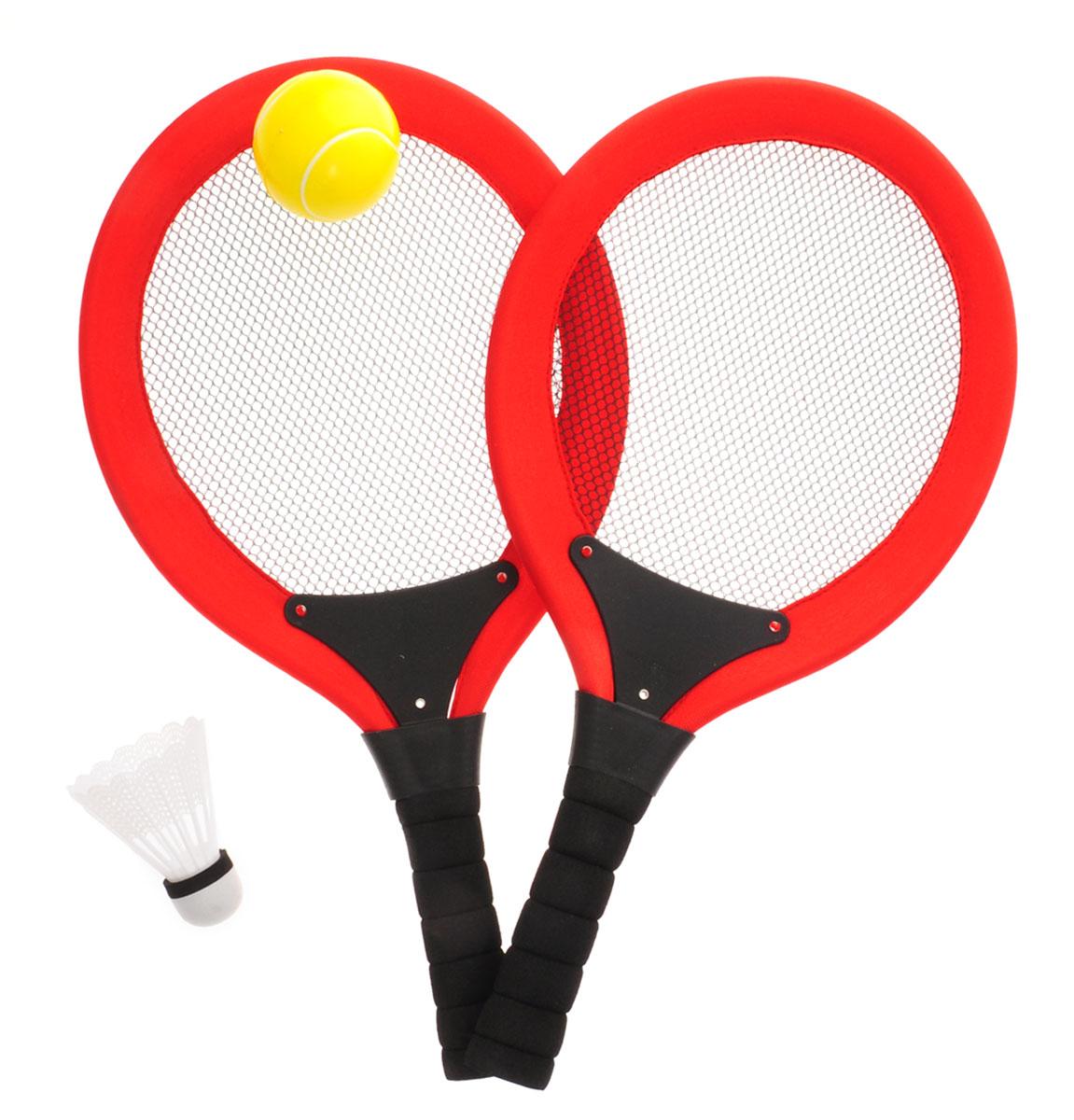 ABtoys Игровой набор 2 в 1 Бадминтон Теннис цвет красный