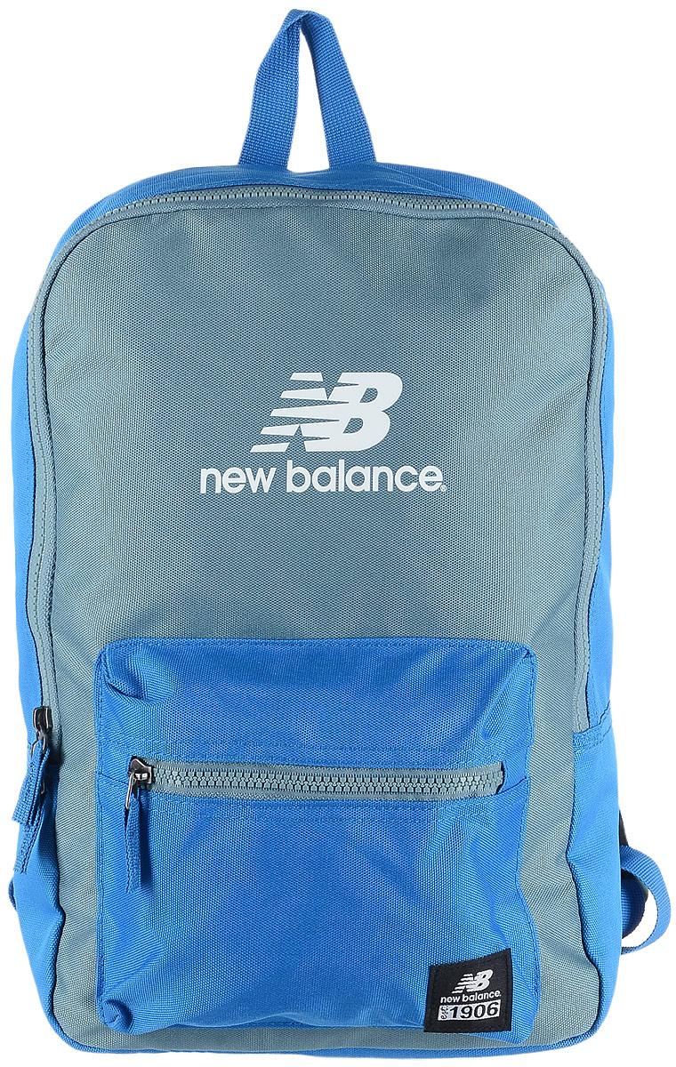 Рюкзак New Balance Booker JR Backpack, цвет: голубой, серый. 500046/EB71069с-2Стильный городской рюкзак New Balance Booker JR Backpack выполнен из полиэстера и оформлен фирменной символикой.Изделие имеет одно отделение, которое застегивается на застежку-молнию. Снаружи, на передней стенке расположен накладной объемный карман на застежке-молнии.Рюкзак оснащен широкими регулируемыми лямками и ручкой для переноски в руке. Уплотненная спинка обеспечивает комфорт при переноске рюкзака.