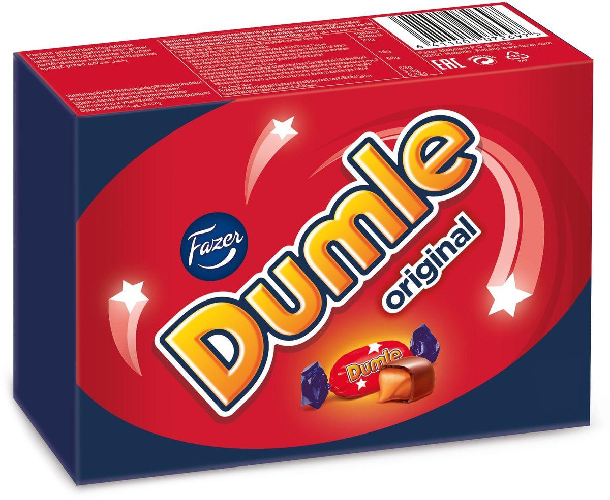 Fazer Dumle Original ирис в молочном шоколаде, 150 г5731Свою историю бренд Dumle ведет с 1945 года, когда впервые был выпущен на рынок леденец на палочке Dumle, а когда в 1980-е годы появился мягкий сливочный ирис Dumle, то успех был феноменальным. Сегодня мягкий сливочный ирис в шоколаде Dumle Original является самым популярным карамельным ирисом в Швеции. Шелковисто-мягкий сливочный ирис в шоколаде – любимые конфеты тех, кто хочет оставаться в душе ребенком!