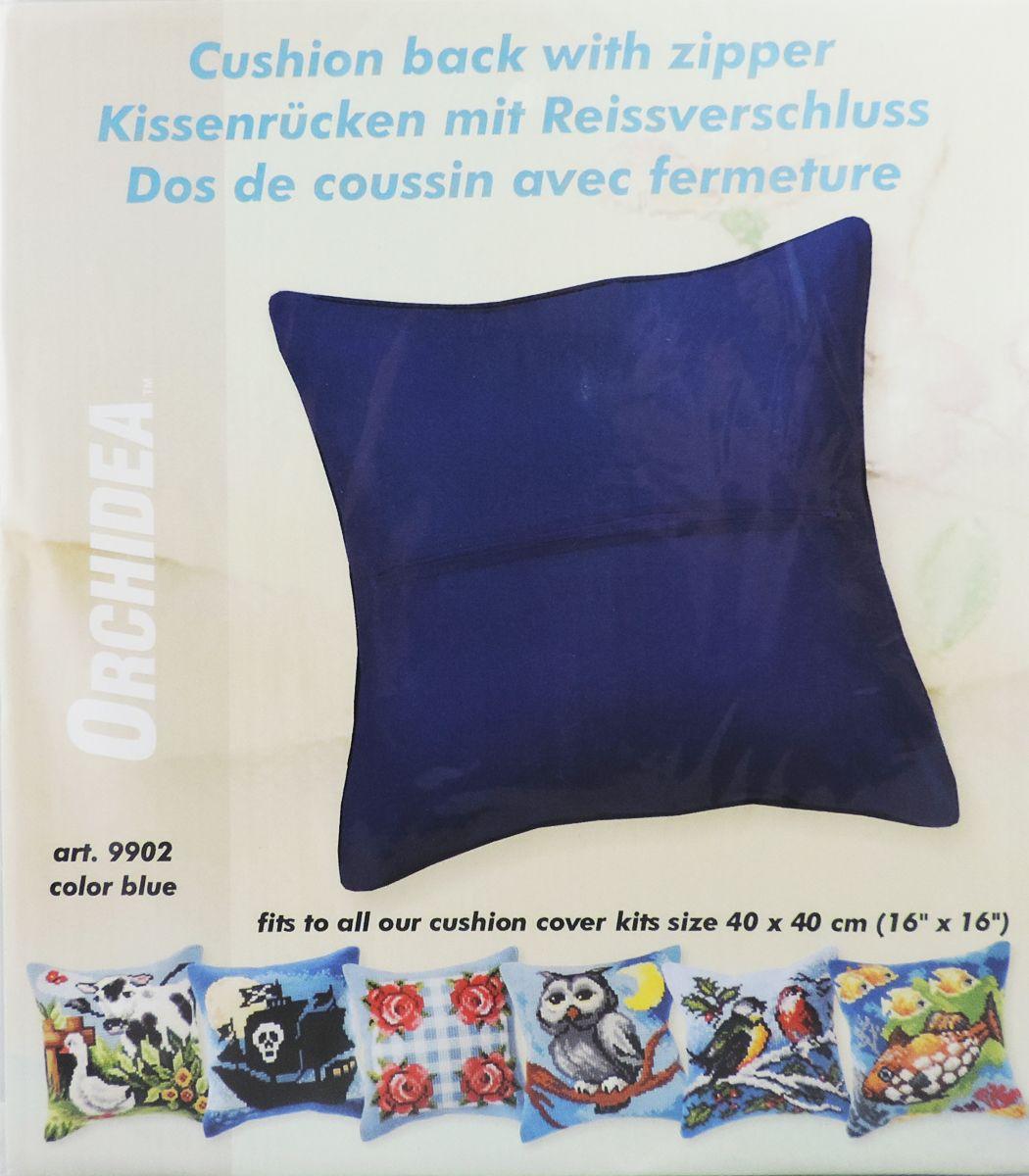Обратная сторона подушки Orchidea, 45 х 45 см, цвет: черный. 9902NLED-454-9W-BKОбратная сторона подушки с уже вшитой молнией. Идеальна для подушек размером 40х40 см. В центре вшит замок-молния, вам останется только пришить ее к декоративной части подушки. Состав: 100% хлопок