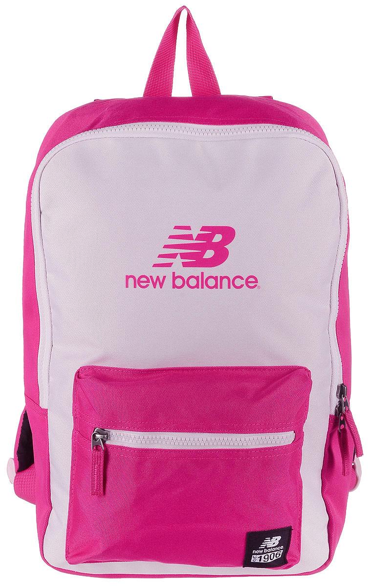 Рюкзак New Balance Booker JR Backpack, цвет: розовый, фуксия. 500046/DP23008Стильный городской рюкзак New Balance Booker Backpack выполнен из полиэстера и оформлен фирменной символикой.Изделие имеет одно отделение, которое застегивается на застежку-молнию. Снаружи, на передней стенке расположен накладной объемный карман на застежке-молнии.Рюкзак оснащен широкими регулируемыми лямками и ручкой для переноски в руке. Уплотненная спинка обеспечивает комфорт при переноске рюкзака.