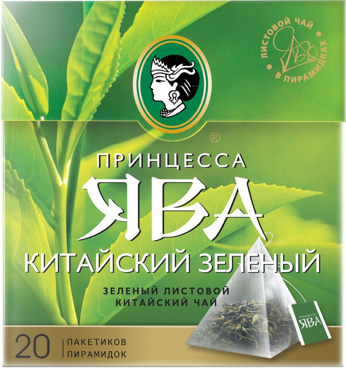 Принцесса Ява чай зеленый в пирамидках, 20 шт0944-18Легкий и гармоничный букет классического листового зеленого китайского чая, насыщенный тонкой горчинкой и приятными терпкими нотами, открывает характерный аромат, мягкое и хорошо выраженное послевкусие.