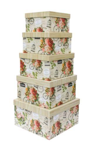 Набор подарочных коробок Hobby&You Винтаж, 5 штHY00704Подарочная коробка - это наилучшее решение, если вы хотите порадовать вашихблизких и создать праздничное настроение, ведь подарок, преподнесенный воригинальной упаковке, всегда будет самым эффектным и запоминающимся.Окружите близких людей вниманием и заботой, вручив презент в нарядном,праздничном оформлении.