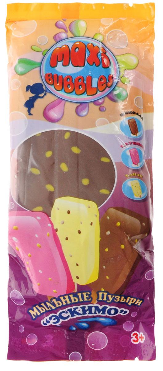 Maxi Bubbles Мыльные пузыри Эскимо с ароматом шоколада 110 мл spring bubbles с пупырышками