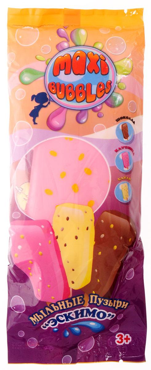 Maxi Bubbles Мыльные пузыри Эскимо с ароматом клубники 110 мл spring bubbles с пупырышками