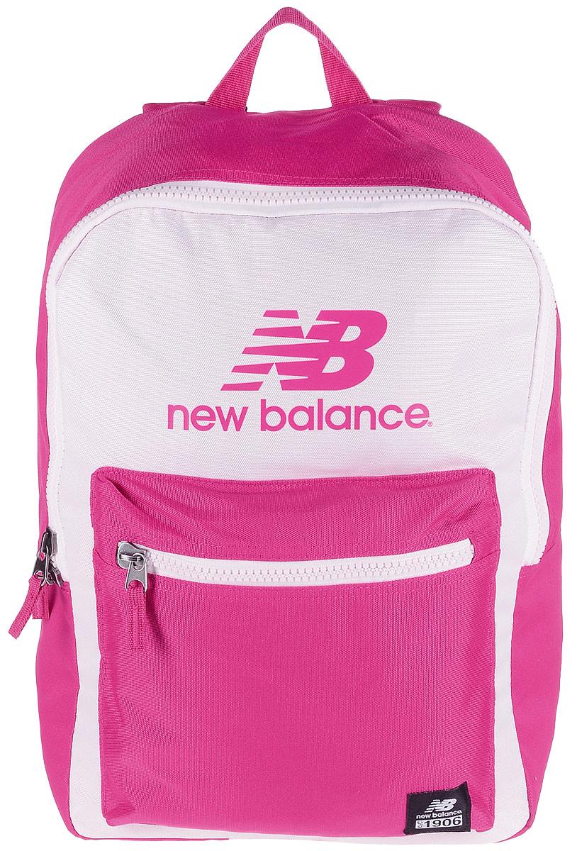 Рюкзак New Balance Booker Backpack, цвет: розовый, фуксия. 500045/DPS76245Стильный городской рюкзак New Balance Booker Backpack выполнен из полиэстера и оформлен фирменной символикой.Изделие имеет одно отделение, которое застегивается на застежку-молнию. Внутри находится накладной карман для ноутбука или планшета. Снаружи на передней стенке расположен накладной объемный карман на застежке-молнии.Рюкзак оснащен широкими регулируемыми лямками и ручкой для переноски в руке. Уплотненная спинка обеспечивает комфорт при переноске рюкзака.