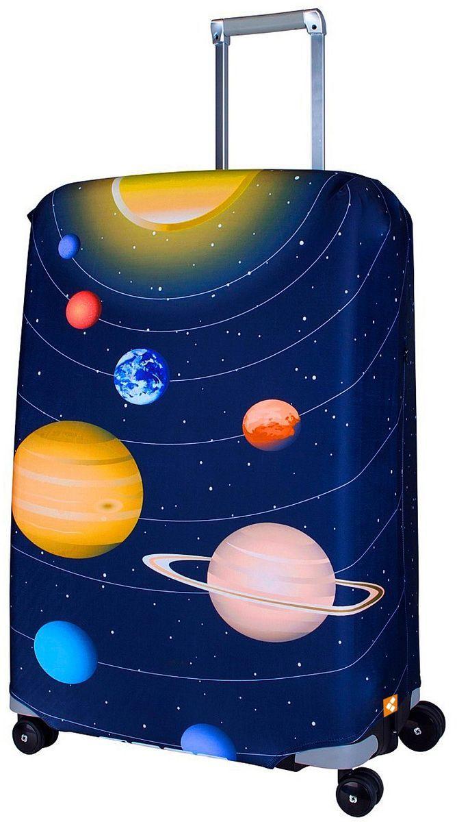 Чехол для чемодана Routemark Solar, размер L/XL (75-85 см)Mars-M/LДля больших чемоданов, высотой от 75 до 85 см (29-33 inch) (мерить от пола). Плотность ткани - 240 г/кв.м, упрочнённые швы, 2 потайные молнии для боковых ручек с двух сторон. Внизу чехла - молния трактор, дополнительная резинка с фастексом для лучшей усадки. Стойкая сублимационная печать.