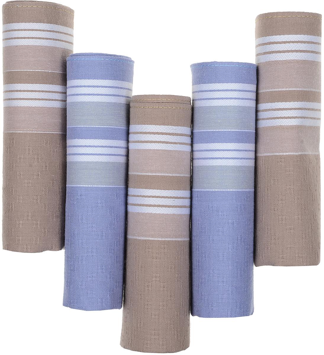 Платок носовой мужской Zlata Korunka, цвет: коричневый, синий, 5 шт. 90512-7. Размер 29 см х 29 смБрошь-булавкаОригинальный мужской носовой платок Zlata Korunka изготовлен из высококачественного натурального хлопка, благодаря чему приятен в использовании, хорошо стирается, не садится и отлично впитывает влагу. Практичный и изящный носовой платок будет незаменим в повседневной жизни любого современного человека. Такой платок послужит стильным аксессуаром и подчеркнет ваше превосходное чувство вкуса.В комплекте 5 платков.