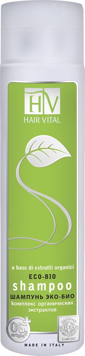Hair Vital Шампунь Эко-Био, 250 мл388Содержит 97% натуральных ингредиентов. Не содержит силиконов, парабенов и красителей. Имеет сертификат ICEA (органическая сертификация в Италии)• Бережно очищает волосы без утяжеления• Нормализует работу сальных желез• Питает кожу, придает волосам блеск и эластичность• Подходит для ежедневного использованияАктивные компоненты: экстракт календулы лекарственной, эхинацея узколистная, чайное дерево масло, эвкалипт шаровидный масло, OG2