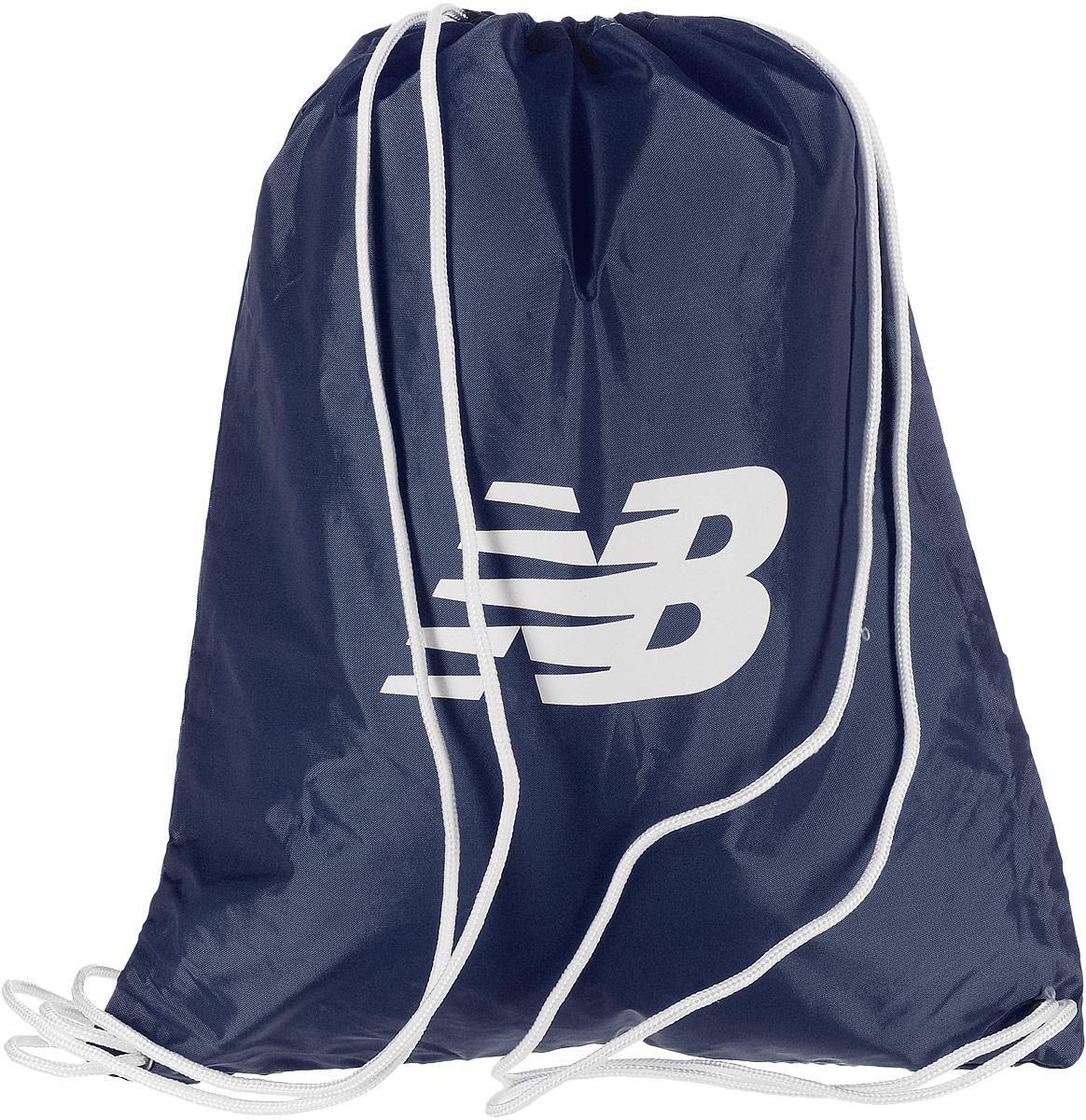 Рюкзак New Balance Cinch Sack, цвет: темно-синий. 500006/NW101225Стильный спортивный рюкзак New Balance Cinch Sack выполнен из нейлона и оформлен символикой бренда. Изделие имеет одно основное отделение, которое закрывается с помощью затягивающего шнурка.Веревочные завязки можно использовать как наплечные лямки. Стильный и функциональный рюкзак поместит все необходимое.