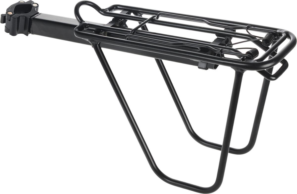Багажник на велосипед Stern. CCAR-3ГризлиВелосипедный багажник Stern выполнен из высококачественного металла. Крепится изделие на колесо. Предназначен багажник для моделей с размером колес 24-28. Оснащен механизмом, удерживающим перевозимые предметы. Размер багажника: 50 х 12 х 22 см. Размер рабочей части: 33 х 12 см.