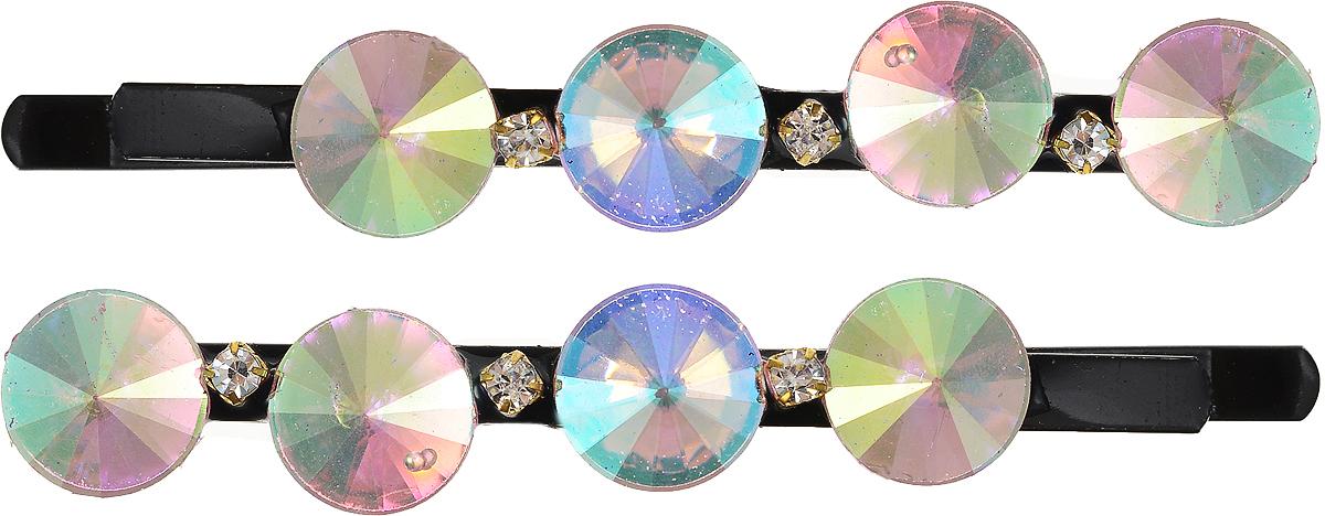 Заколка-невидимка Mitya Veselkov, цвет:  синий, зеленый, 2 шт.  2064-DAM Mitya Veselkov