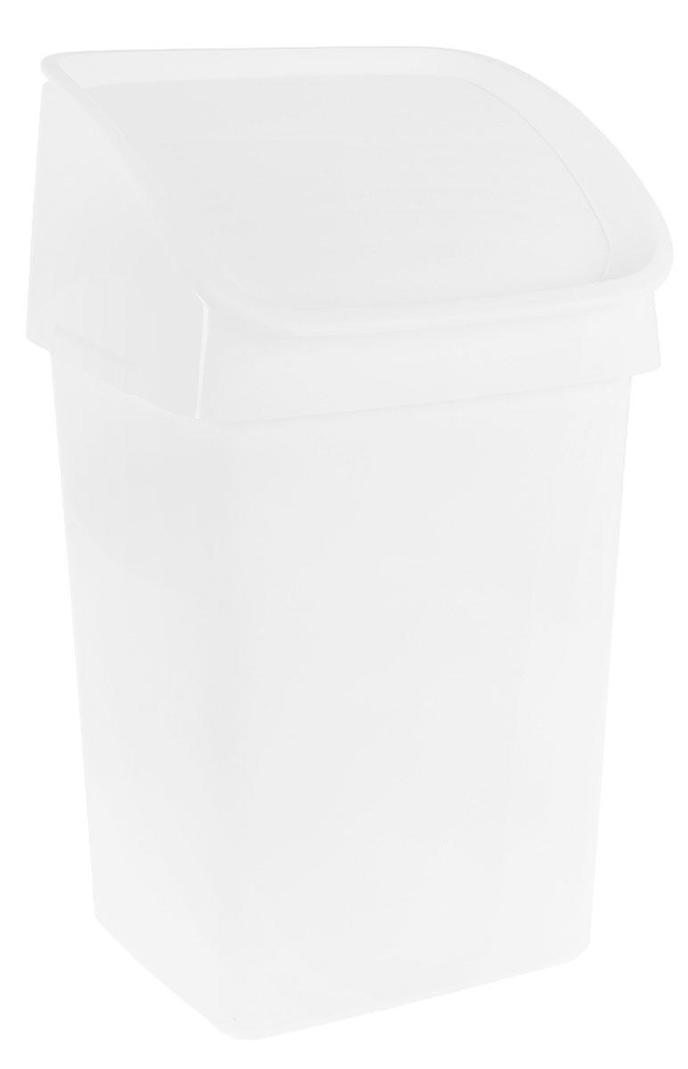 Ведро мусорное Tescoma CleanKit, цвет: белый, 21 лV 1533-CМусорное ведро для кухни Tescoma CleanKit выполнено из прочного пластика. Можно полностью откинуть крышку, если вам необходимо выбросить что-то крупное, а для мелкого мусора есть самозакрывающееся окошко.Поставляется в комплекте с крючком для подвешивания щетки и совка на заднюю стенку ведра.