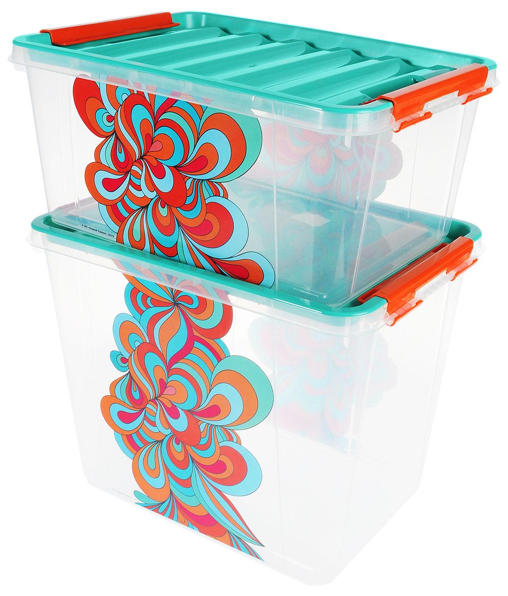 Набор контейнеров Полимербыт Домашний, 2 штБрелок для ключейНабор контейнеров Полимербыт Домашнийизготовлен из высококачественного прочного пластика, устойчивого к высоким температурам. Стенки контейнера прозрачные, что позволяет видеть содержимое. Цветная полупрозрачная крышка плотно закрывается. В набор входят 2 контейнера разного объема. Контейнеры идеально подходят для хранения различных вещей.Размеры большого контейнера: 39 х 28,5 х 31 см.Размер малого контейнера: 39 х 28,5 х 18 см.Объем контейнеров: 25 л; 15 л.