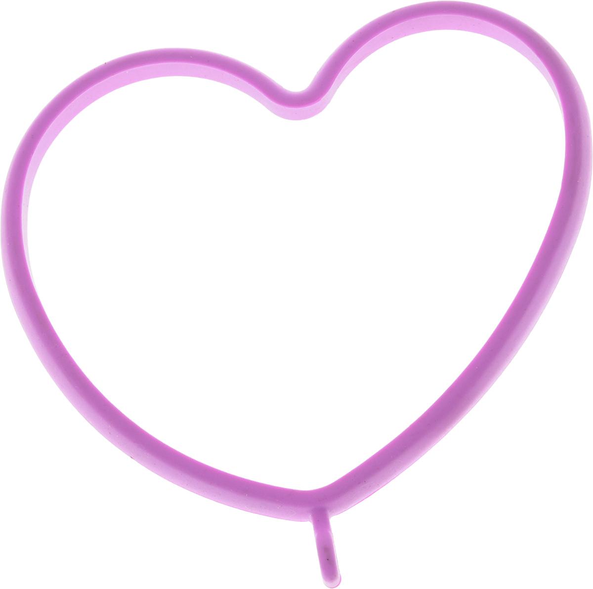 Форма для яичницы Oursson Сердце, цвет: сиреневый, 13,5 х 11,4 х 1 см115510Форма для яичницы Oursson Сердце, выполненная из жаростойкого силикона, подходит для приготовления яичницы, омлета, оладий! Она добавит оригинальности обычным блюдам и особенно понравится детям! Форма не повреждает антипригарное покрытие сковород. Для получения идеального результата рекомендуется использовать ее на ровной поверхности сковороды. Размер формы: 13,5 х 11,4 х 1 см