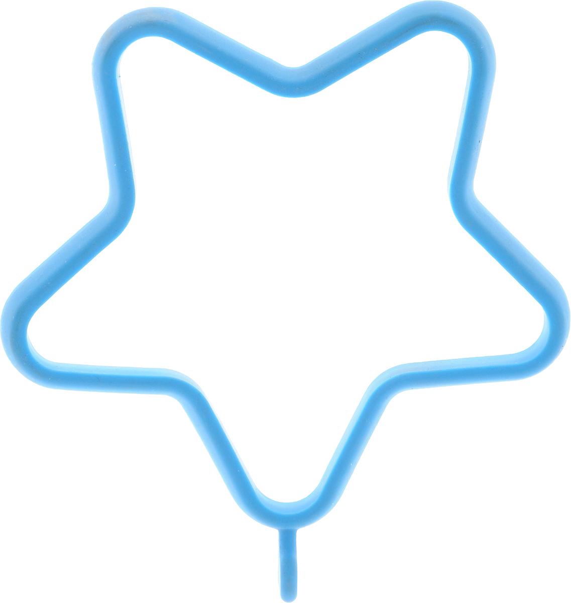 Форма для яичницы Oursson Звезда, цвет: голубой, 13,5 х 11,4 х 1 см94672Форма для яичницы Oursson Звезда, выполненная из жаростойкого силикона, подходит для приготовления яичницы, омлета, оладий! Она добавит оригинальности обычным блюдам и особенно понравится детям! Форма не повреждает антипригарное покрытие сковород. Для получения идеального результата рекомендуется использовать ее на ровной поверхности сковороды. Размер формы: 13,5 х 11,4 х 1 см