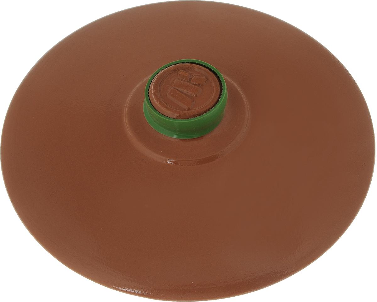 Крышка керамическая Ломоносовская керамика. Диаметр 24 см391602Крышка керамическая Ломоносовская керамика, изготовленная из глины, являетсяжаропрочной. На ручке крышки имеется силиконовый обод, который поможет уберечь ваши рукиот ожогов и не позволит крышке выскользнуть из рук.С керамической крышкой можно готовить в СВЧ и духовке. Также ее можно мыть в посудомоечной машине.Она плотно прилегает к краям посуды, сохраняя аромат блюд.Диаметр крышки: 24 см.