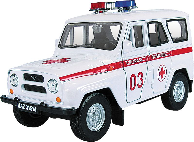 Autotime Модель автомобиля УАЗ-31514 Скорая помощь машинки autotime машина uaz 31514 почта